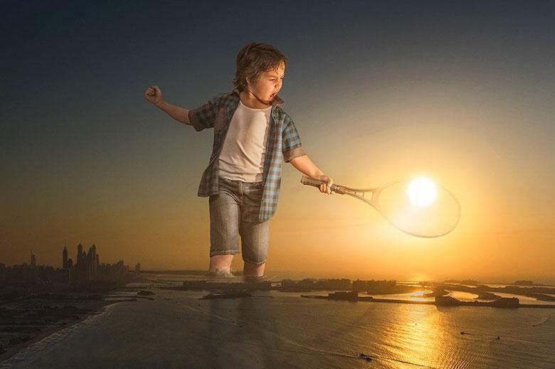 Dad photoshop son into crazy photos using digital manipulation - 7