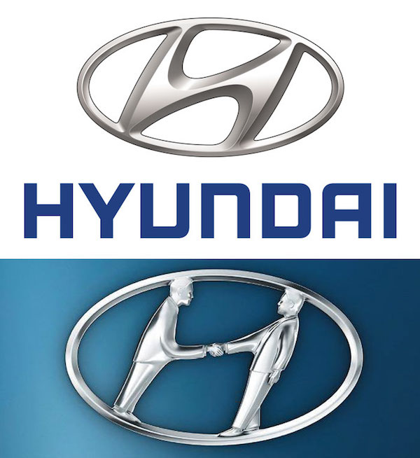 Famous brand logos with hidden meanings - Hyundai