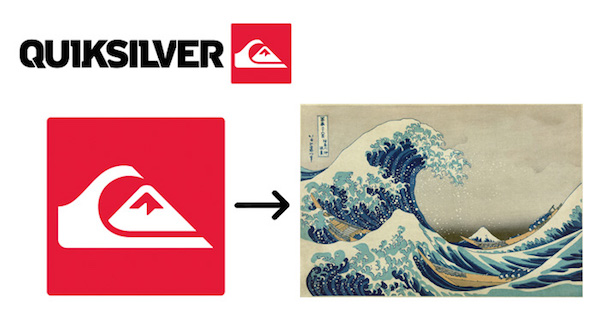 Famous brand logos with hidden meanings - Quiksilver