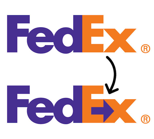 Famous brand logos with hidden meanings - Fedex