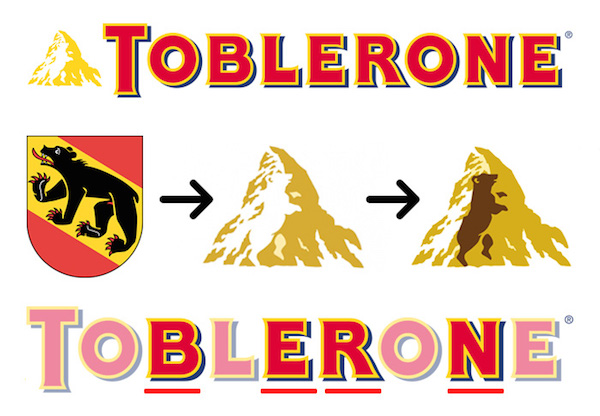 Famous brand logos with hidden meanings - Toblerone