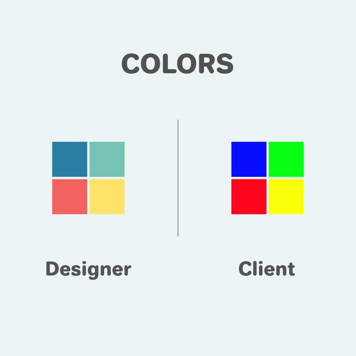 Funny differences between designers and clients - 1