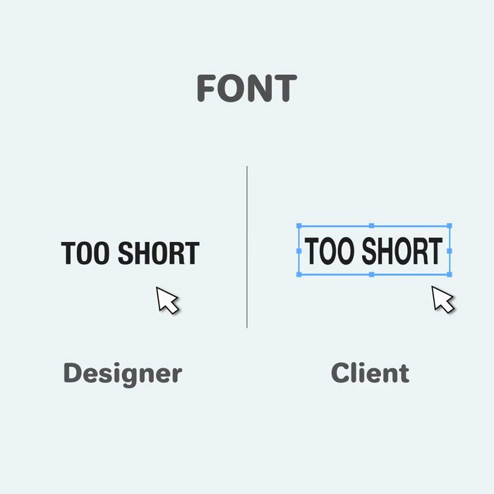Funny differences between designers and clients - 11