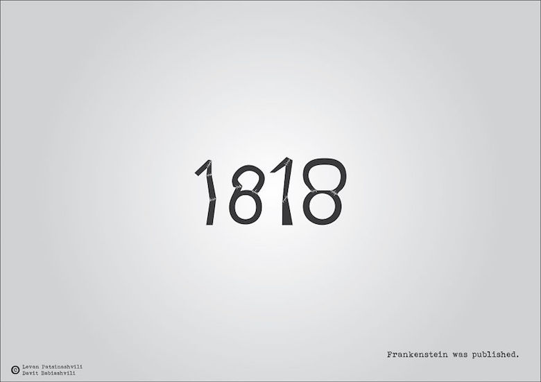 1818 - Frankenstein was published