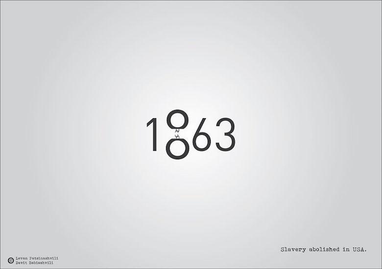 1863 - Slavery abolished in USA