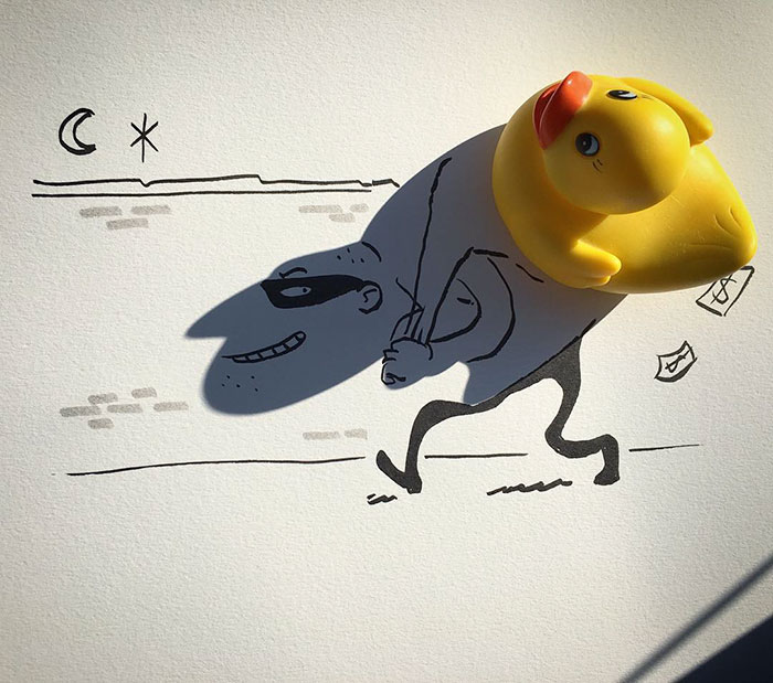 Shadow doodle art by Vincent Bal - 1