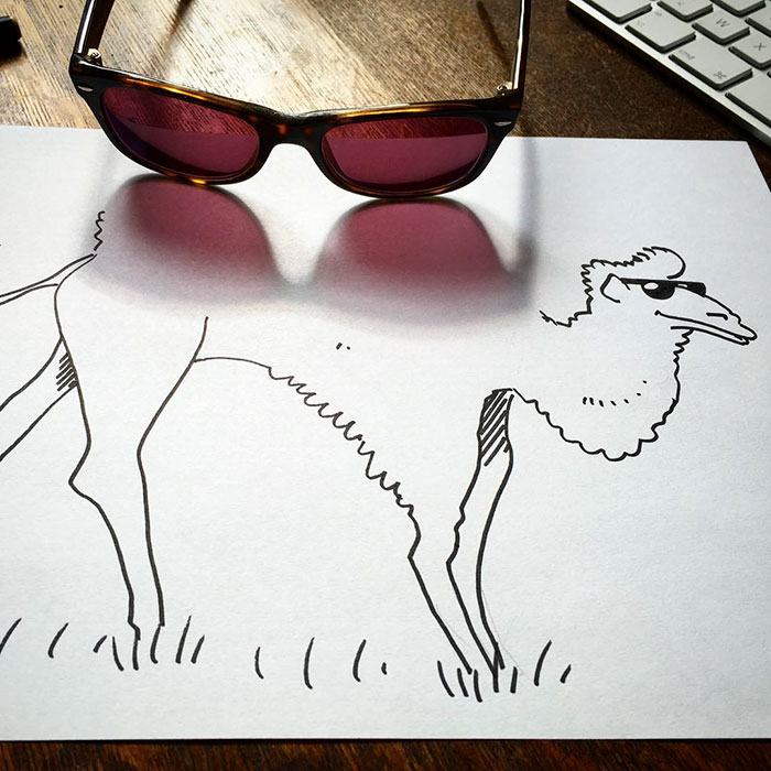 Shadow doodle art by Vincent Bal - 12