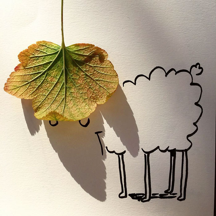 Shadow doodle art by Vincent Bal - 14