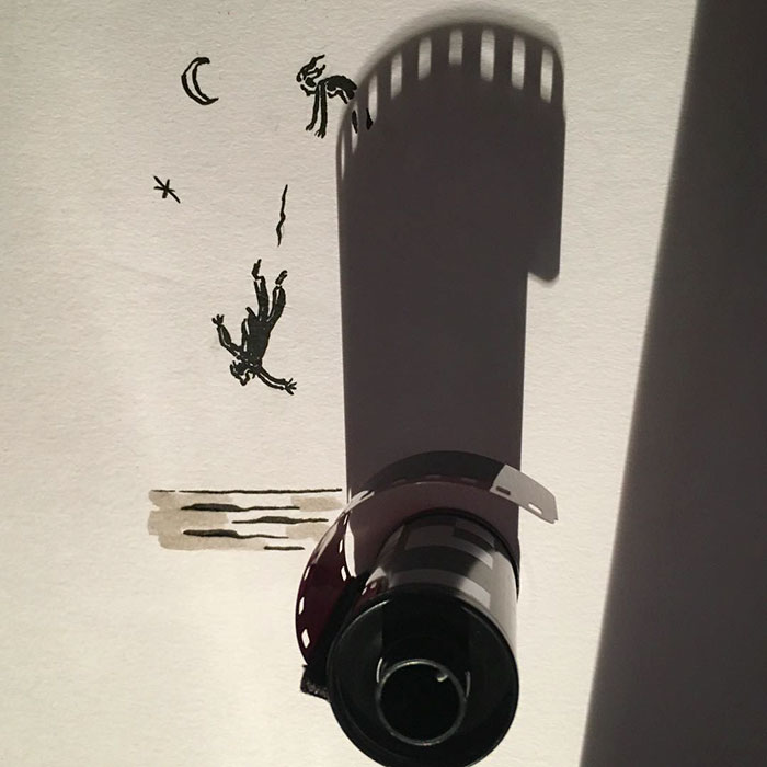 Shadow doodle art by Vincent Bal - 5