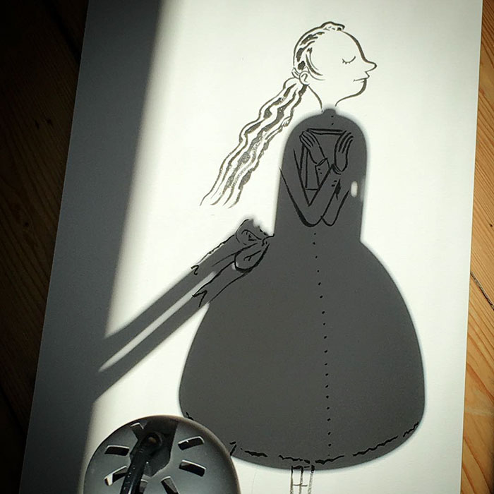 Shadow doodle art by Vincent Bal - 53