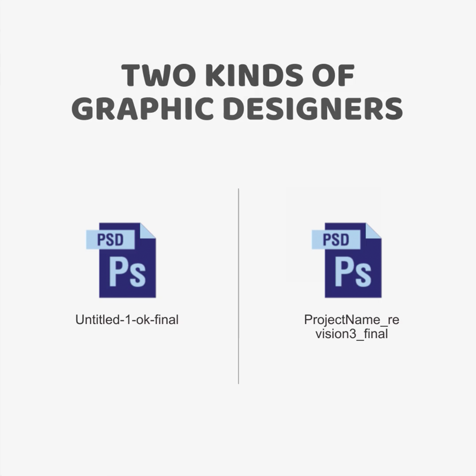 Two kinds of Graphic Designers - File Naming