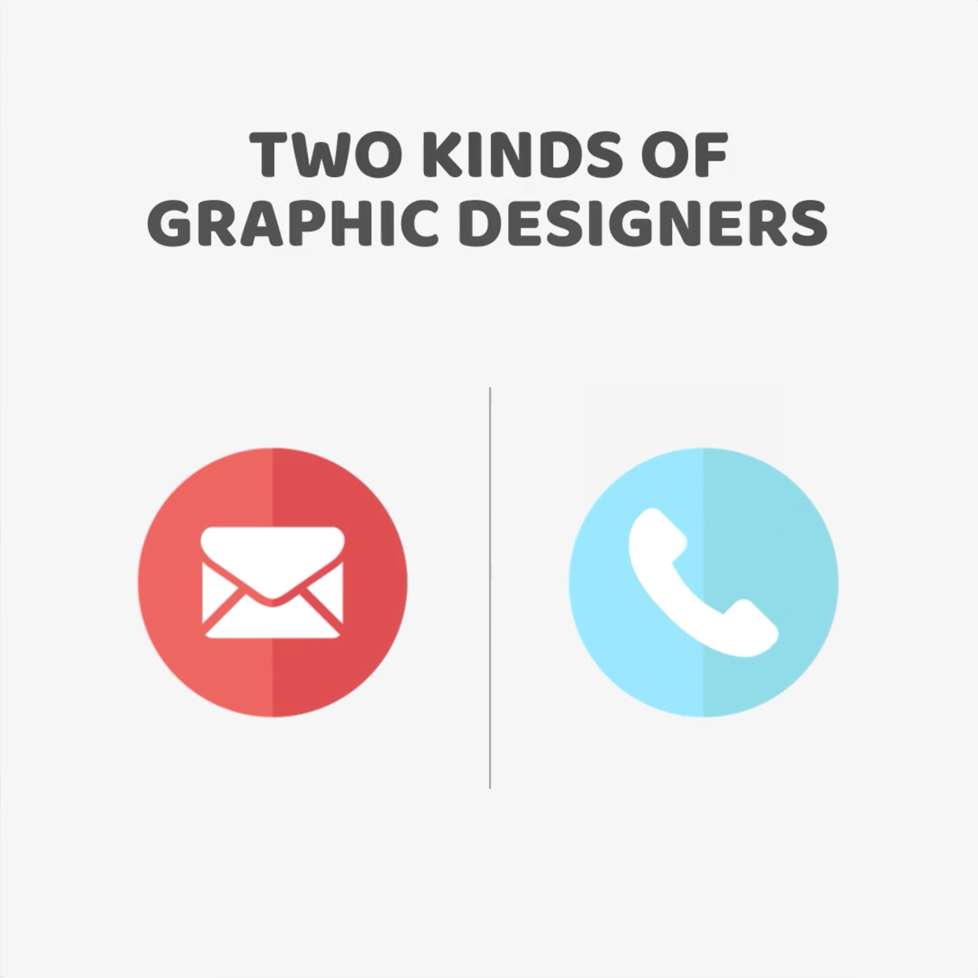 Two kinds of Graphic Designers - Mail vs. Phone