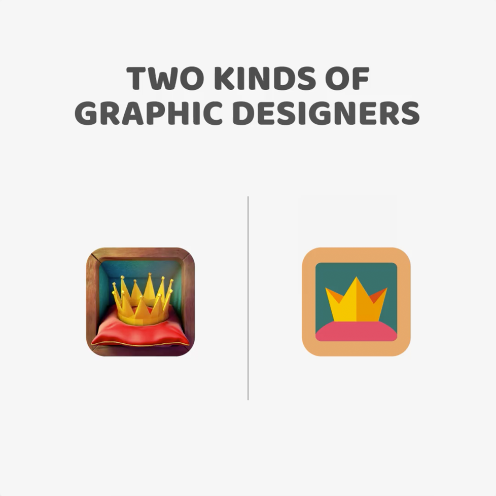Two kinds of Graphic Designers - 3D vs. 2D