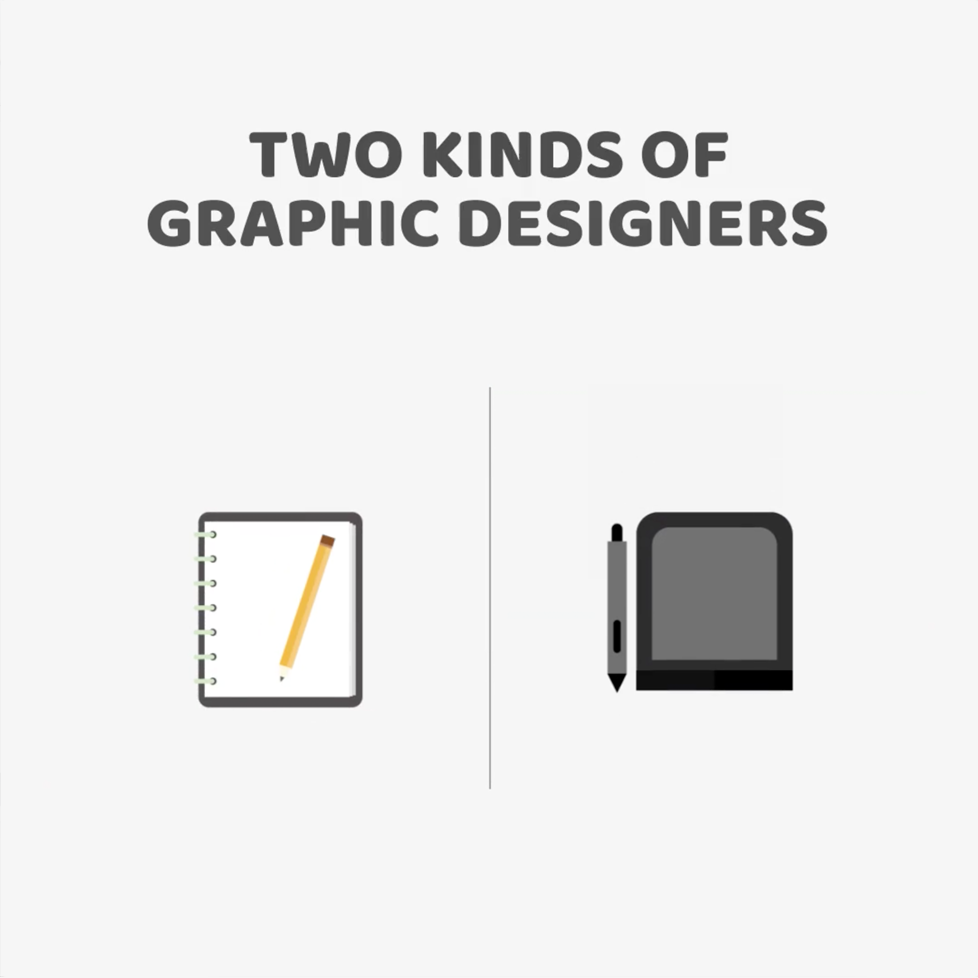 Two kinds of Graphic Designers - Notebook vs. Tablet
