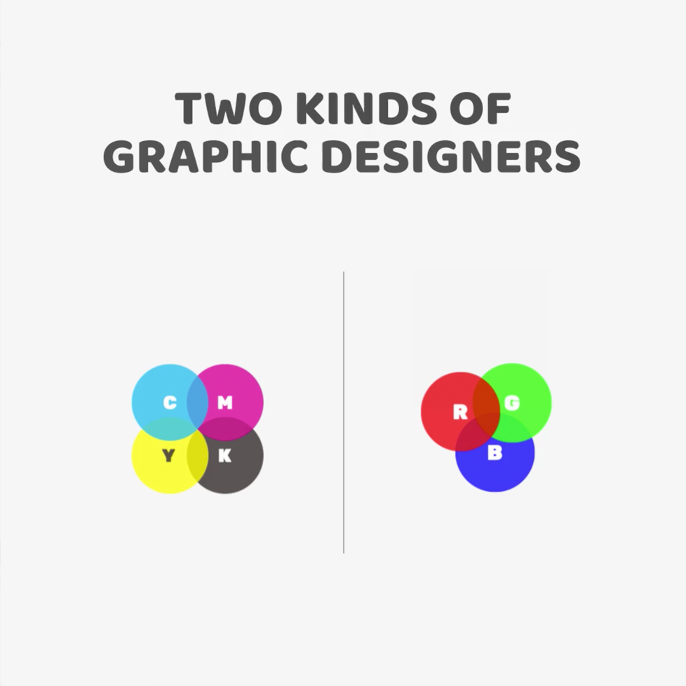 Two kinds of Graphic Designers - RGB vs. CMYK