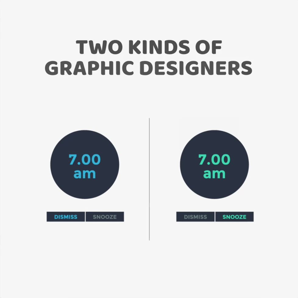 Two kinds of Graphic Designers - Alarm