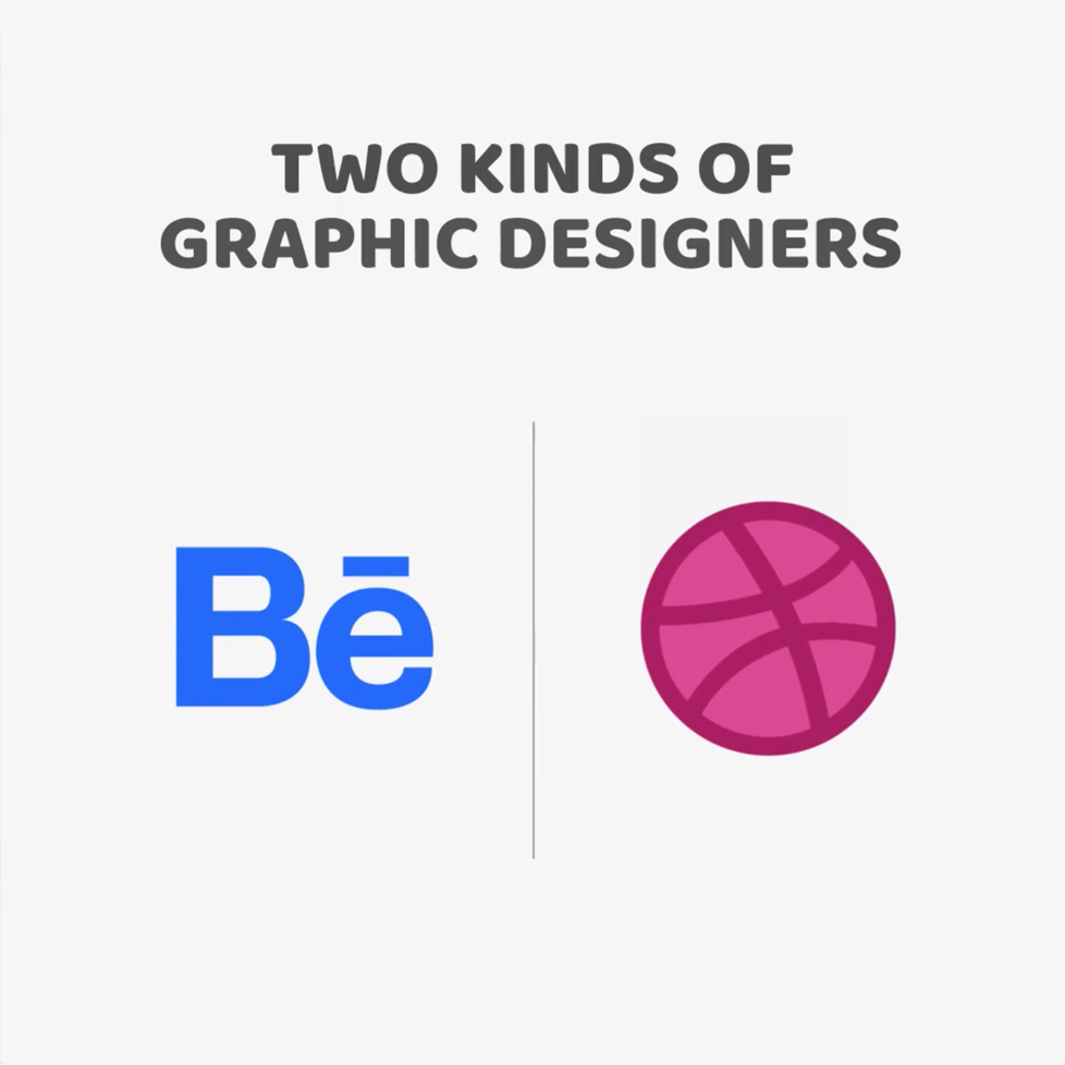 Two kinds of Graphic Designers - Behance vs. Dribbble