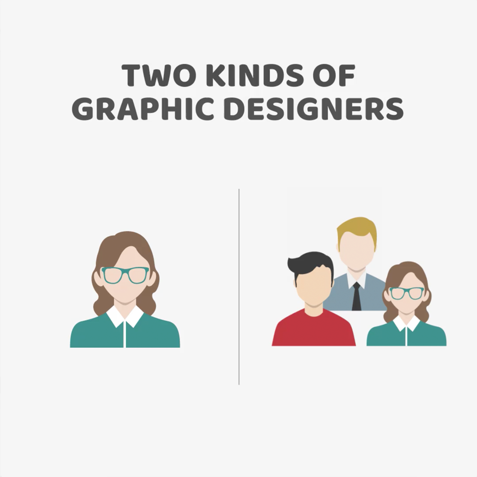 Two kinds of Graphic Designers - Working alone vs. Group