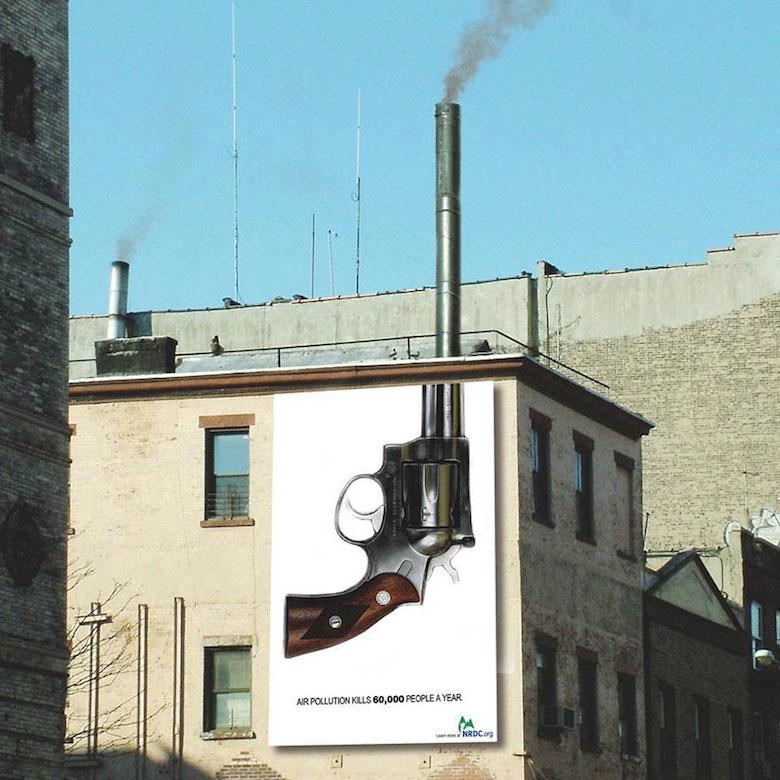 NRDC - Air pollution kills 60,000 people a year (Gun chimney)