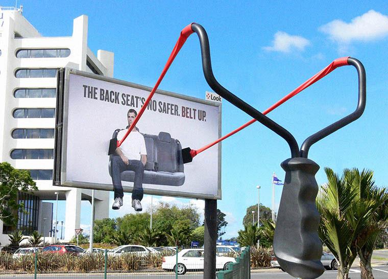 The back seat's no safer. Belt up.