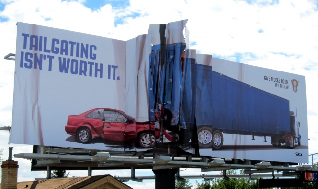 Colorado State Patrol - Tailgating isn't worth it.