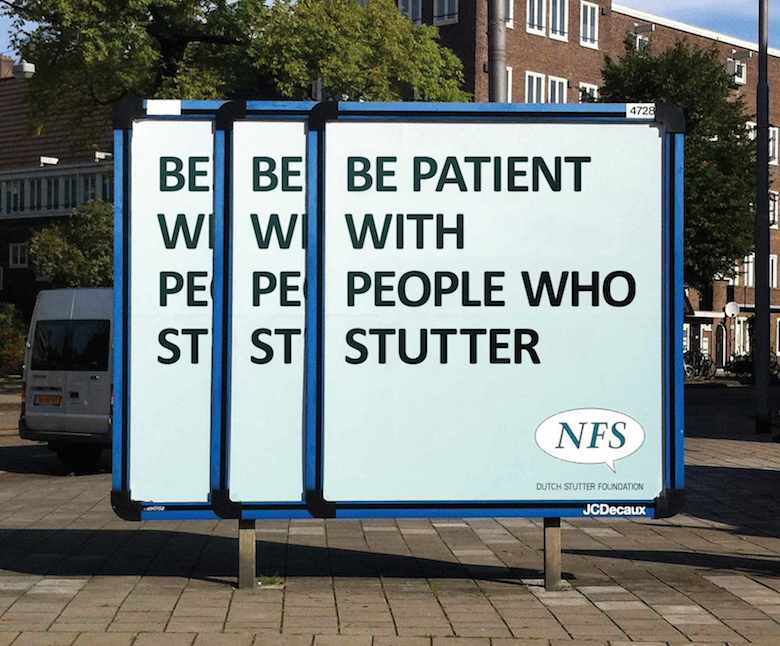 Dutch Stutter Foundation - Be patient with people who stutter