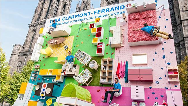 IKEA - Climbing wall
