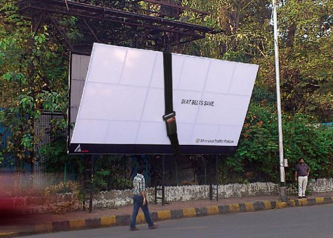 Mumbai Traffic Police - Seat belts save