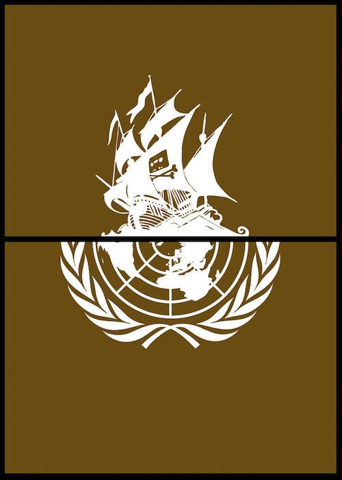 Logomorphia: Mashups of famous logos - Pirate Bay / United Nations