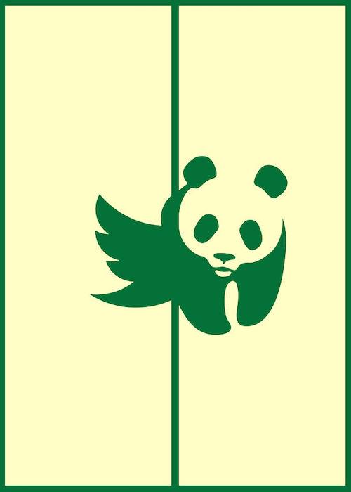 Logomorphia: Mashups of famous logos - Twitter / WWF
