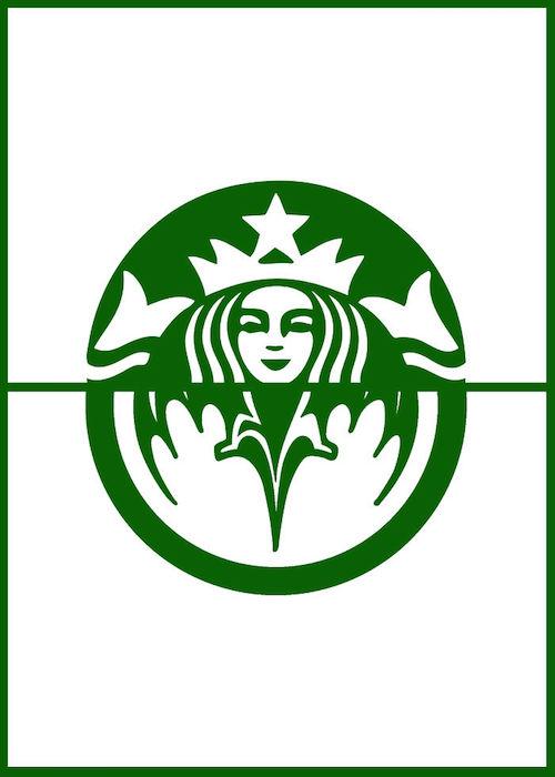 Logomorphia: Mashups of famous logos - Starbucks / Bacardi