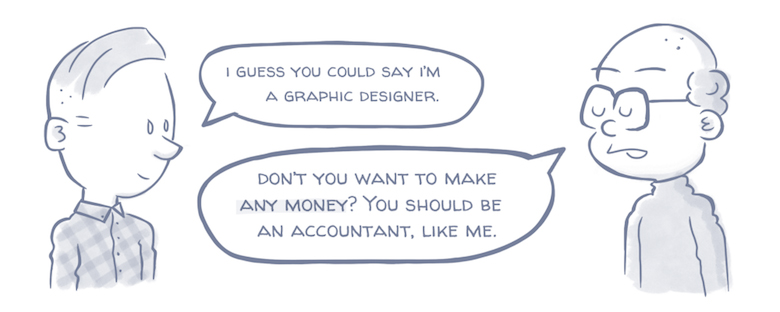 What Your Relatives Think When You Tell Them You're A Designer - The Starving Artist