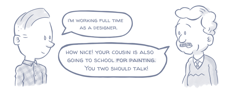 What Your Relatives Think When You Tell Them You're A Designer - The Fine Artist