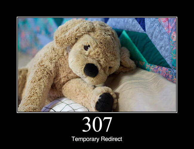 307 Temporary Redirect: In this case, the request should be repeated with another URI; however, future requests should still use the original URI. In contrast to how 302 was historically implemented, the request method is not allowed to be changed when reissuing the original request. For instance, a POST request repeated using another POST request.