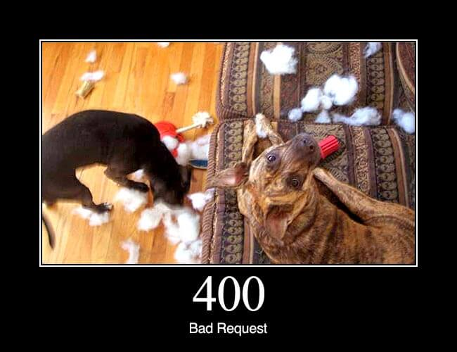 400 Bad Request: The request cannot be fulfilled due to bad syntax.