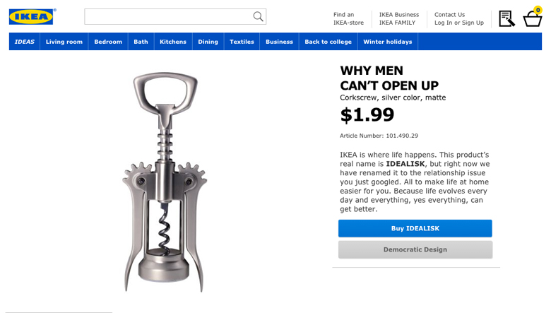 IKEA Retail Therapy - Why men can't open up