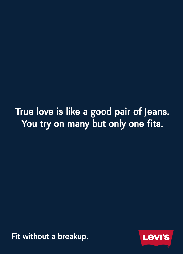 Creative Print Ads, 365 Day Copywriting Challenge - Levi's