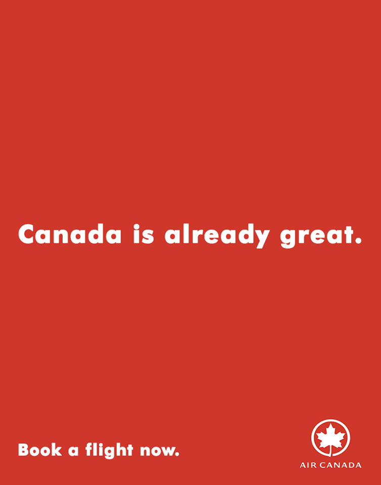 Creative Print Ads, 365 Day Copywriting Challenge - Air Canada