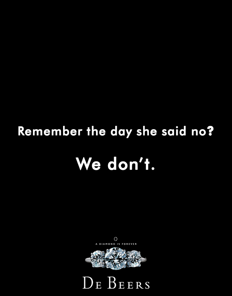Creative Print Ads, 365 Day Copywriting Challenge - De Beers