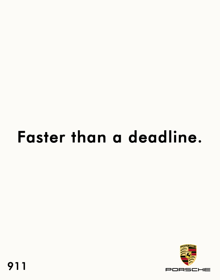 Creative Print Ads, 365 Day Copywriting Challenge - Porsche