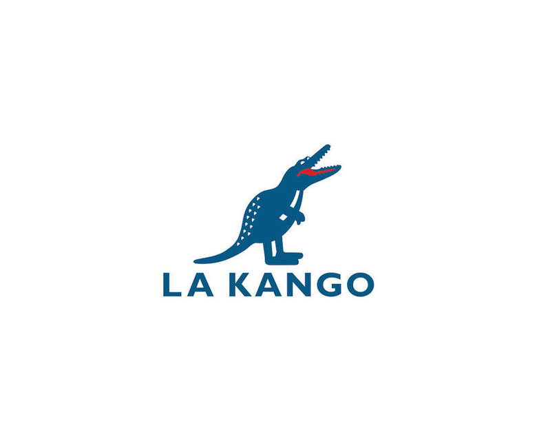 Combined logos of famous brands: Lacoste / Kangol