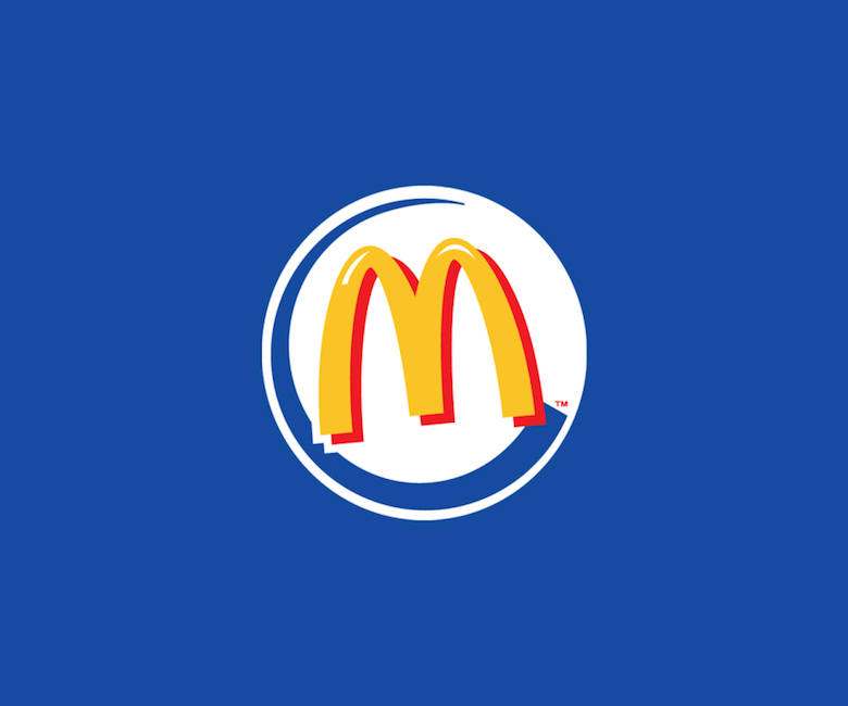 Combined logos of famous brands: McDonald's / Burger King