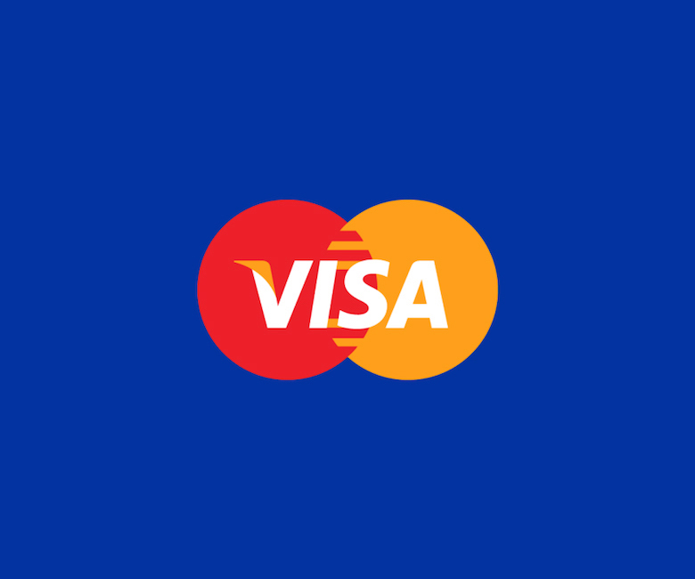 Combined logos of famous brands: Visa / Mastercard