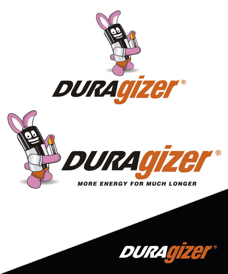 Combined logos of famous brands: Duracell / Energizer