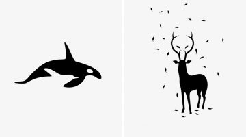 Brilliant Negative Space Illustrations Of Animal Predators And Their Preys
