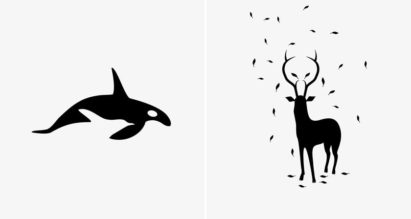 Brilliant Negative Space Illustrations Of Animal Predators