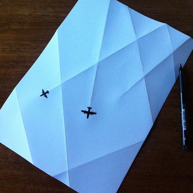 3D paper folding art and drawings by HuskMitNavn - 12