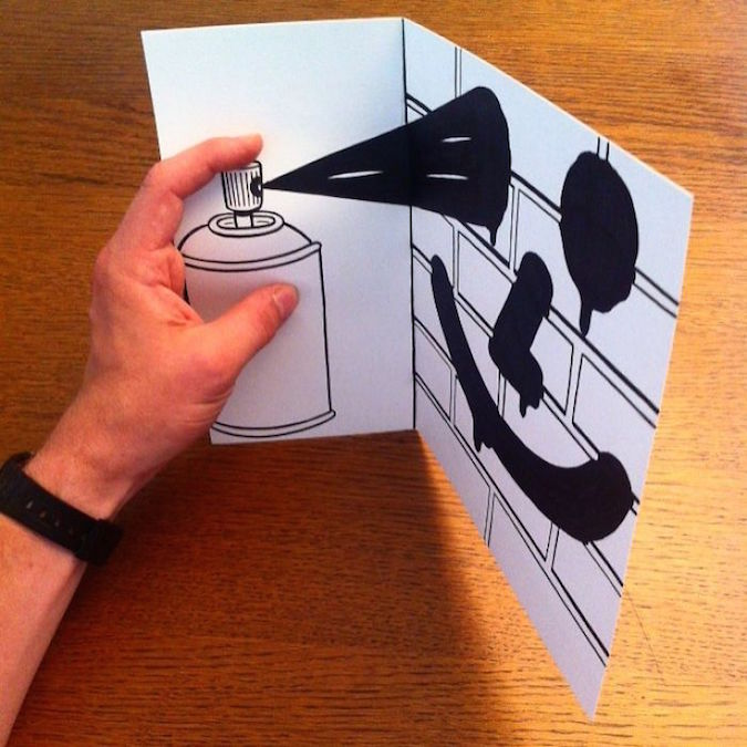 3D paper folding art and drawings by HuskMitNavn - 20