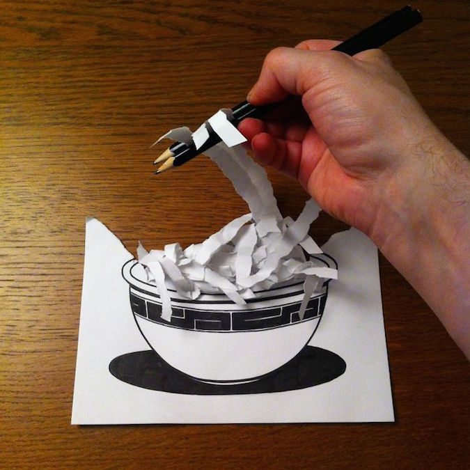 3D paper folding art and drawings by HuskMitNavn - 21