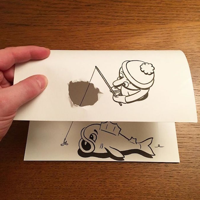 3D paper folding art and drawings by HuskMitNavn - 3